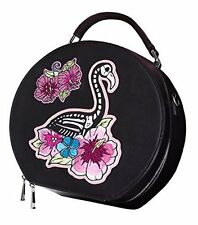 Hell Bunny skelemingo FLAMINGO Scheletro Bag Borsa Beauty case anni'50 Rockabilly