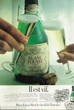 Publicité advertising 1981 Vin Vif de Touraine Blanc Foussy