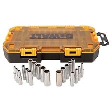 "Dewalt 20 Piece 1/4"" Drive SAE and Metric Deep Socket Set 21370"