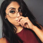 Oversized Lennon Hippie Round Frame Clear Lens Gold Frame Glasses