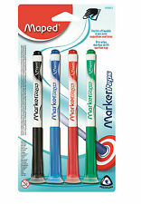 Helix Maped Dry Wipe Whiteboard Marker Peps Suction Caps School Pens Drywipe Tip