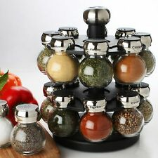 Olde Thompson 16 Jar revolving spice rack filled kitchen paypal CNY17