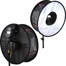 "18""Easy-fold Ring Speedlight Flash Softbox Diffuser Reflector -Macro Photography"