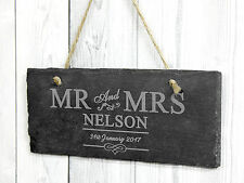 Engraved Slate Wedding, Anniversary Signs Plaque - Personalised Gift Cute xx