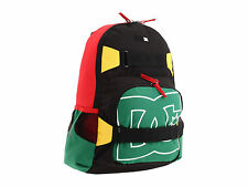 DC SHOES RASTA BACKPACK SKATEBOARD CARRY NEW NELSTONE LAPTOP RASTAFARI NWT 420
