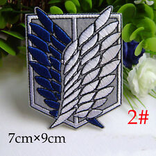 Attack on Titan Cosplay Scouting Legion Recon Corps Badge Patchs Embroidery Blue