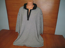 New Womens Plus Size 5X 30 32 Avenue Black Striped Top Stretch Career Or Casual