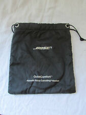 "GENUINE BOSE QUIET COMFORT QC1 HEADPHONE DRAWSTRING CARRYING BAG BLACK 8"" X 9.5"""
