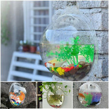 New 1X Wall Mount Hanging Fish Plant Bubble Aquarium Bowl Pot Tank Decoration PS