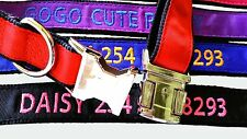 Metal Buckle Personalized Embroidered Dog Collar