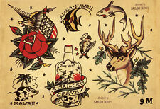 Sailor Jerry Tattoo Art Flash #8   13 x 19 Photo Print