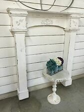 Fireplace Mantle with surrounds, Fireplace Surrounds, Prmitive Mantle with legs
