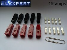 10 Conector Eléctrico 15AMP ANDERSON POWERPOLE X Enchufe _ GOLF TROLLEY _ Kit Car _ rc