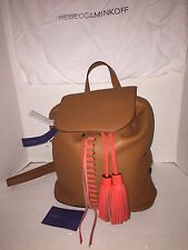 Rebecca Minkoff Moto Almond Poppy Leather Backpack HandBag $325