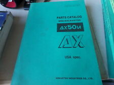 HOKUETSU AIRMAN AX50U MINI EXCAVATOR PARTS CATALOG / MANUAL