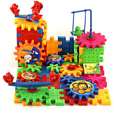 81pcs Baby Kids Educational Toys Electric Gears Building Blocks Changeable Toy