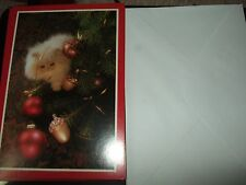 lot 15 christmas cards white cat kitten first image arts envelopes unused new