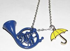 Pendentif How I met your mother HIMYM umbrella & french horn metal necklace