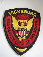 Law Enforcement Collector Patch Badge Vicksburg Mississippi MS Police Dept