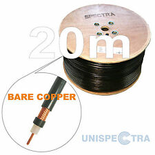 20m  RG213  50 OHM BARE COPPER MIL SPEC COAX CABLE CB HAM Amateur Receivers