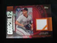 "GIO GONZALEZ GAME-WORN MATERIAL RELIC CARD--2013 TOPPS ""CHASING THE DREAM"""