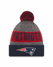 New Era NFL Bobble New England Patriots Sport Knit Sideline Beanie Fitted Hat