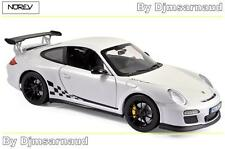 Porche 911 GT3 RS de 2010 White & Black Trim NOREV - NO 187561 -- Echelle 1/18