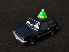 Disney Pixar Cars 2 black Alexander Hugo with Party Hat 1/55 Diecast