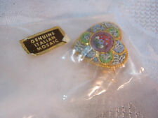 Italian Mosaic Heart Pin Vintage Costume Jewelry