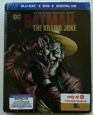 NEW DC COMICS BATMAN THE KILLING JOKE BLU RAY DVD TARGET EXCLUSIVE STEELBOOK OOP