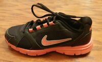 Nike Endurance Trainer girls sneakers black with pink trim size 4 Y