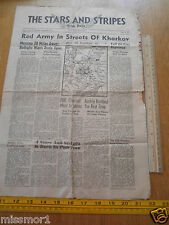 Stars and Stripes Aug 1943 Africa ver Oran Red Army in Kharkov Messina Austria