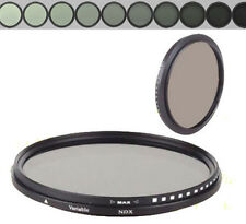 72mm Glass Fader ND Filter Neutral Density ND2 to ND400 ND4 ND8 F SLR Camera Len