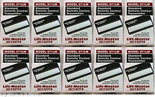 971LM 10-Pack Liftmaster SEARS Craftsman 139.53681B Security + 1btn Remote 390mh