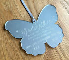 Personalised Silver Godmother Butterfly Hanging Keepsake Gift Present *Gift Box*