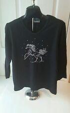Cactus Bay Apparel Black Spirited Horse Shirt - Ladies Medium