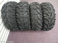 "25"" SET OF 4 KENDA K299 BEAR CLAW ATV TIRES 25-8-12 FRONT & 25-10-12 REAR 2 EA"