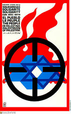 Political OSPAAAL Graphic Solidarity Cuban poster.Solidarity with PALESTINE.me16