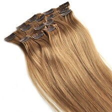 "Tengda 15"" Clip In 100% Remy Real Human Hair Extensions THIN 70G 15 Colors"