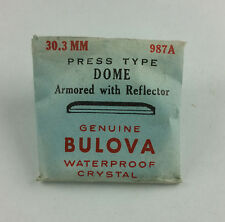 VINTAGE BULOVA PRESS TYPE DOME WATCH CRYSTAL w REFLECTOR - 30.3mm - PART# 987A