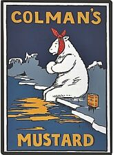 Colmans Mustard Polar Bear steel fridge magnet  (hb)