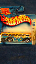 HOT WHEELS 2004 TAG RIDES 3/5 SURFIN'  S'COOL ( SCHOOL ) BUS   SHORT CARD