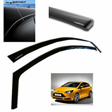 NEW FORD FOCUS ST MK3 2012 on AIR / WIND DEFLECTORS Front & Rears - 'DARK SPORT'