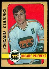 1972 73 OPC O PEE CHEE WHA #333 ROSAIRE PAIEMENT EX CHICAGO COUGARS HOCKEY CARD