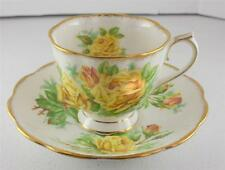 c1941 VTG Royal Albert Yellow Tea Rose England Cup Saucer Set Bone China