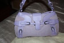 Pamela McCoy Genuine Leather & Suede Bag -Lavender Purple Brand New with dustbag