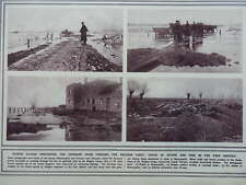 1914 YSER DISTRICT FLOODED RAMSCAPELLE PERVYSE BELGIUM WWI WW1