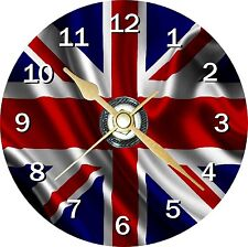 Union Jack Flag Novelty Cd Clock Can be personalised