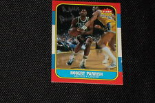 HOF ROBERT PARISH 1986-87 FLEER SIGNED AUTOGRAPHED CARD #84 CELTICS