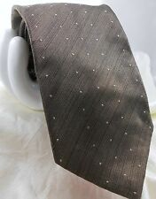Valentino Boutique Mens Silk Tie Graduated Polka Dot & Stripe Gray $165 Retail